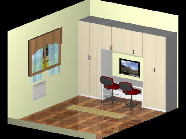 Quarto Infantil + Mesa de Estudos  SL Móveis Planejados